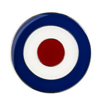 MOD TARGET RAF ROUNDEL QUALITY ENAMEL LAPEL PIN BADGE SCOOTER : UK SELLER