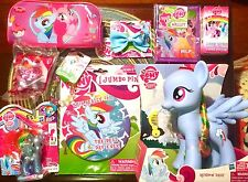 My Little Pony FIM Rainbow Dash 9 Item Gift Set! Figures Accessories LOT