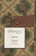 Croscill Pine Cones Sequoia Tropical Window Button Down Valance  -