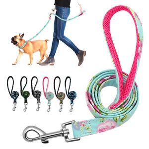 Skin-friendly Dog Leash Printing Nylon cotton With Metal Snap Pet Walking Lead