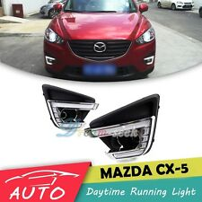 DRL FOR MAZDA CX-5 2012 2013 2014 2015 2016 FOG LAMP LED DAYTIME RUNNING LIGHT