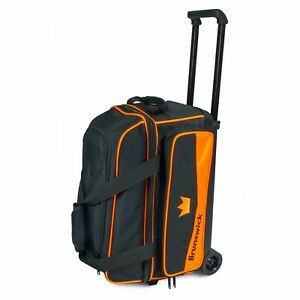 Brunswick Zone Black/Orange 2 Ball Roller Bowling Bag
