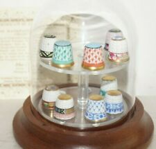 More details for herend hungary hand painted porcelain collection thimbles + certificate