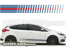 Ford Martini side racing stripes 002 vinyl graphics stickers Focus Fiesta