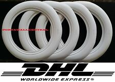 "ATLAS 4X14"" WIDE WHITE WALL PORTAWALL TYRE INSERT TRIMS SET."