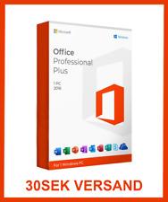 Microsoft Office 2016 Professional Plus Key Vollversion 32/64BIT LIZENZ 1PC