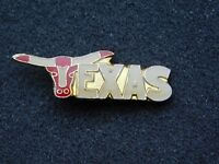 VINTAGE METAL PIN  TEXAS LONGHORNS
