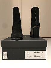 RAG & BONE Studded Blyth Black Suede Ankle Boots Size 7