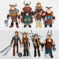 8pcs/set 10-13cm How to Train Your Dragon 2 PVC Action Figures Toys Kids Gift