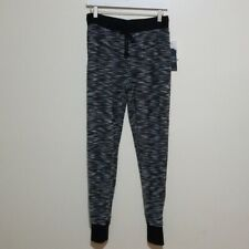Almost Famous Black & White Knitted Jogger Pants