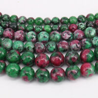 Natural Ruby Zoisite Gemstone Round Spacer Loose Beads Finding Craft 4/6/8/10MM