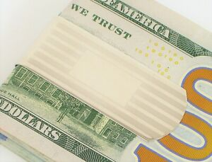 VINTAGE DESIGNER SIGNED DOLAN BULLOCK STERLING SILVER CLASSY GENT'S MONEY CLIP !