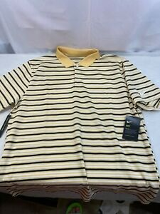 Nike Dri Fit Victory Gold Striped Polo Shirt BV0367 251 Men's Size Large New