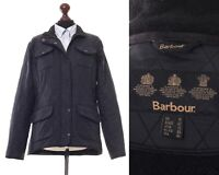Women's BARBOUR Utility Polarquilt Quilted Jacket Coat Black Size UK 16 US 12
