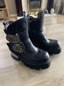 New Rock Original Ladies Gothic Boots Black Steampunk EU 38 UK5