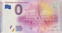 BILLET 0  EURO OSSUAIRE DE DOUAUMONT  FRANCE 2015 NUMERO 1100