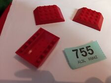 3X LEGO SLOPE 45 6X4 DOUBLE 32083 RED CITY CREATOR STAR WARS SPARE PARTS