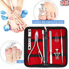 7in1 Professional Pedicure Kit Foot File Remover Set Nail Care Tool Fix Manicure