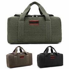 Men Canvas Travel Duffel Bag Weekend Overnight Gym Duffle Luggage Handbag