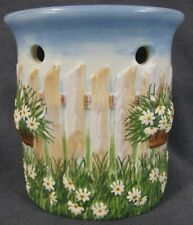 Yankee Candle Tarts Wax Melt Warmer Daisies Baskets Pickett Fence Sculpted