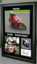"""Phil Read Isle of Man TT Motor Cycle Framed Canvas Signed """"Great Gift"""" #1"""