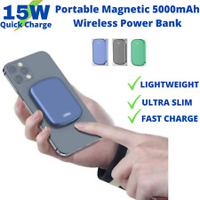 Portable Magnetic Power Bank,5000mAh,Wireless,Lightweight Minimal Charger