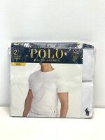 Polo Ralph Lauren Slim Fit Cotton Crews Gray & Blue 2 Pack T-Shirt Men's sz 1XL
