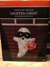 NEW HALLOWEEN GHOST & PUMPKIN LIGHTED WINDOW SHIMMERING DECORATION NIB