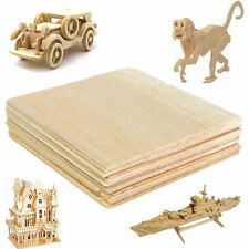20Pcs Wooden Plate Model Balsa Wood Sheets for DIY House Ship 100x100x1mm