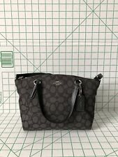 Coach F57830 F27580 Mini Kelsey Satchel In Outline Signature Black Smoke