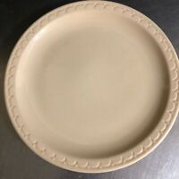 Syracuse China Restaurant Ware Econo Rim Plate Beige Sand Round Made USA MCM