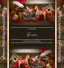 Auktionsvorlage Nikolaus Winter Weihnachten Mobil Vorlage ResponsiveTemplate|646