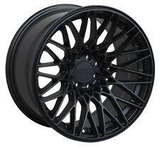 XXR 553 WHEELS 18X8.75/9.75 5X100/114.3 +36 FLAT BLACK FTIS SC430 FR-S 350Z GTI