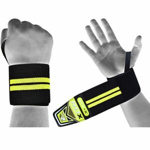 RDX Padded Wrist Wraps Weight Lifting Training Gym Straps Support Grip Gloves