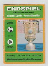 Orig.PRG   DFB Pokal  1978/79   FINALE  HERTHA BSC BERLIN - FORTUNA DÜSSELDORF !
