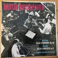 SXL 6138 Britten CELLO Symphony/Haydn Cello Concerto/ROSTROPOVICH avec b