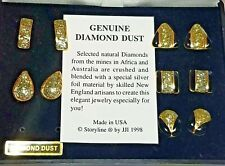 1998 STORYLINE EARRINGS GENUINE DIAMOND DUST W/CASE 5 PAIRS POST VINTAGE FASHION