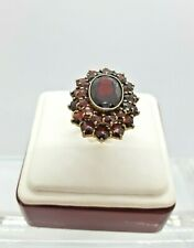 Vintage 14K Yellow Gold, Gold-Filled and Garnets Ring