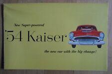 Kaiser ORIG 1954 USA Mkt opuscolo vendite-Willys MANHATTAN SPECIALE Darrin 161