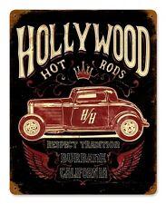Hollywood Hot Rods Burbank California Rod Vintage Retro Sign Blechschild Schild