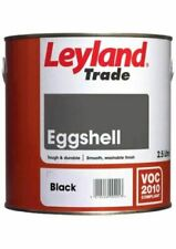 Leyland Trade Quality Oil Eggshell Satin Paint for Wood & Metal Black 2.5L