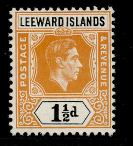 LEEWARD ISLANDS GVI SG102, 1½d yellow-orange & black, LH MINT.