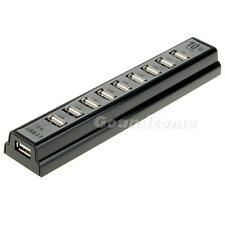 New phsg High Speed 10 Port USB 2.0 Hub Multi Outlet Power Strip Type X5RG