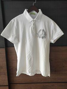 Versace Jeans Poloshirt Shirt Kurzarm Logo Original weiß Gr. EU 50 / L - wie neu