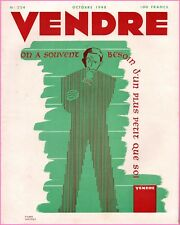 ▬►MARKETING PUBLICITÉ  -- VENDRE N° 224 (OCTOBRE 1948) --  COVER  PIERRE NASSIET