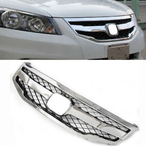 Chrome Front Bumper Grille Air inlet Grille Fit For Honda Accord 2011-2012