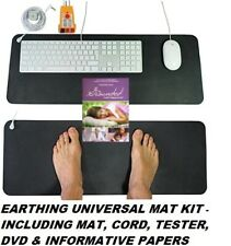 EARTHING GROUNDING UNIVERSAL MAT BETTER NEW BEST QUALITY + EXTRAS REDUCE STRESS
