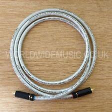 Un par de 2 Van Damme Silver Series Lo-Cap 55pF cables de interconexión-RCA Enchufes