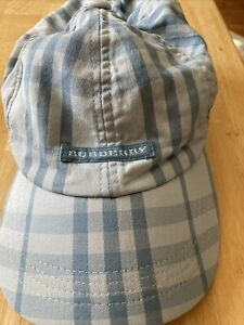 Burberry Genuine Baseball Cap Blue Check With Logo One Size  Used
