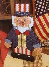 UNCLE SAM WALL HANGING 4TH OF JULY PLASTIC CANVAS PATTERN INSTRUCTIONS